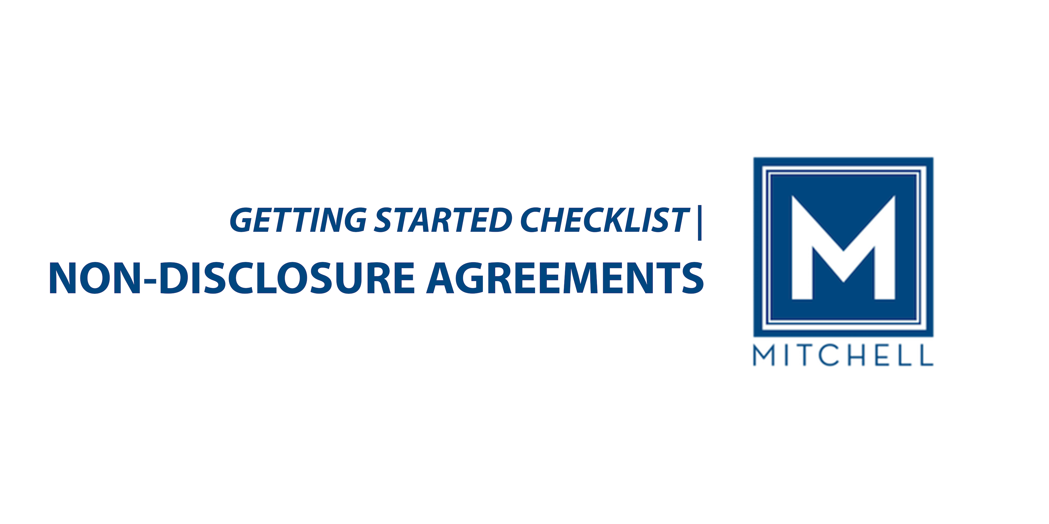 Non Disclosure Agreements Mitchell Law Firm